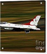 An F-16 Thunderbird Of The U.s. Air Acrylic Print