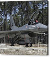 An F-16a Fighting Falcon Acrylic Print
