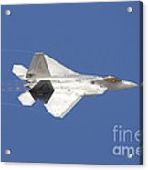 An F-22 Raptor In Flight Over Nellis Acrylic Print