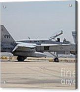 An Fa-18c Hornet At Marine Corps Air Acrylic Print