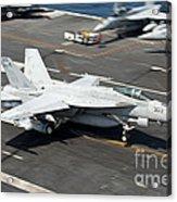 An Fa-18e Super Hornet Hooks An Acrylic Print