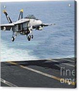 An Fa-18f Super Hornet Prepares To Land Acrylic Print