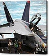 An Fa-18f Super Hornet Sits Acrylic Print
