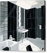 An Illustration Of A Bathroom Acrylic Print