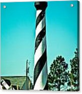 An Image Of Lighthouse In Small Town Acrylic Print