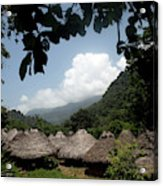 An Indigenous Village In The Jungles Acrylic Print