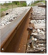 An Inspection Failure Of Train Tracks 6 Acrylic Print
