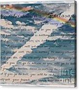 An Irishman's Philosophy Acrylic Print