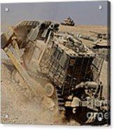 An Israel Defense Force Caterpillar D-9 Acrylic Print