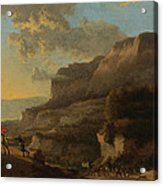 An Italianate Landscape With Travellers Ambushed By Bandits Acrylic Print