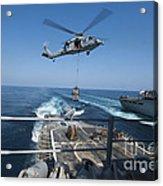 An Mh-60s Sea Hawk Brings Pallets Acrylic Print