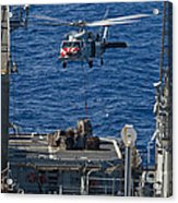 An Mh-60s Sea Hawk Delivers Supplies Acrylic Print