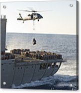 An Mh-60s Sea Hawk Helicopter Carries Acrylic Print