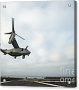 An Mv-22 Osprey Is Guided Onto Acrylic Print by Stocktrek Images