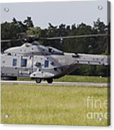 An Nh90 Helicopter Of The Italian Navy Acrylic Print