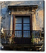 An Old Balcony In Syracuse Acrylic Print