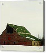 An Old Barn In Northeast Montana Acrylic Print