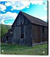 An Old Barn In The Sage Acrylic Print