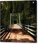 An Old Bridge Crossing The Seleway River  Acrylic Print