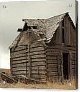 An Old Cabin In Eastern Montana Acrylic Print