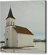 An Old Church In North Dakota Acrylic Print by Jeff Swan