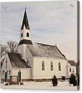 An Old Church In Palermo North Dakota Acrylic Print