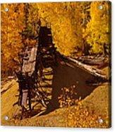 An Old Colorado Mine In Autumn Acrylic Print