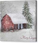 An Old Fashioned Merry Christmas Acrylic Print