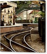 An Old-fashioned Train Station Acrylic Print