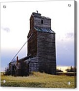 An Old Grain Elevator Off Highway Two In Montana Acrylic Print