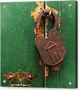 An Old Rusty Lock Acrylic Print