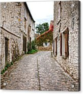 An Old Village Street Acrylic Print by Olivier Le Queinec