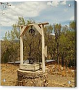 An Old Well In Lincoln City New Mexico Acrylic Print