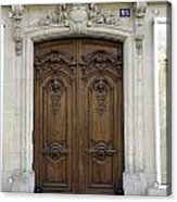 An Ornate Door On The Champs Elysees In Paris France   Acrylic Print