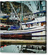 Anacortes Fishing Fleet Washington State Acrylic Print