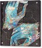 Anahata - Heart 'blue Hand' Chakra Mudra Acrylic Print