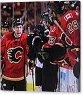 Anaheim Ducks V Calgary Flames - Game Acrylic Print