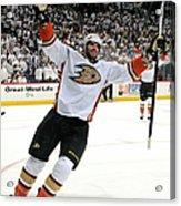 Anaheim Ducks V Winnipeg Jets - Game Acrylic Print