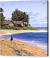 Anahola Beach Kauai Acrylic Print