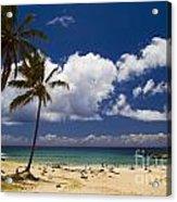 Anakena Beach On Easter Island Acrylic Print