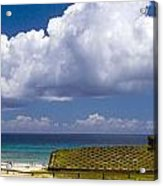 Anakena Beach With Ahu Nau Nau Moai Statues On Easter Island Acrylic Print
