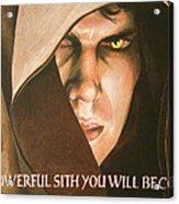 Anakin Skywalker A Powerful Sith Acrylic Print