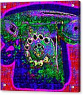 Analog A-phone - 2013-0121 - V4 Acrylic Print by Wingsdomain Art and Photography