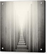 Analog Photography - Berlin Holocaust Memorial Acrylic Print