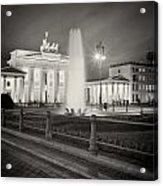 Analog Photography - Berlin Pariser Platz Acrylic Print