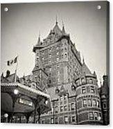 Analog Photography - Chateau Frontenac Quebec Acrylic Print