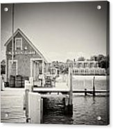 Analog Photography - Martha's Vineyard Black Dog Wharf Acrylic Print