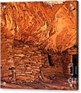 Anasazi  Cliff Dwelling Acrylic Print