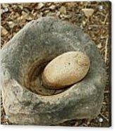 Anasazi Grinding Bowl Acrylic Print