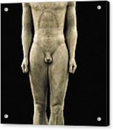 Anavyssos Kouros. Ca.  520 Bc. Archaic Acrylic Print by Everett